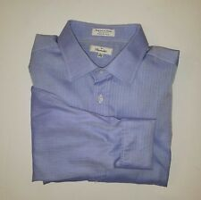 Facconable Iridescent Blue French Cuff Dress Shirt Sz 7/17.5 XL *Made in USA*
