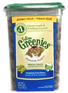 1 Feline Greenies Powerfully Good Dental Treats Tempting Tuna 11 oz BB 5/21