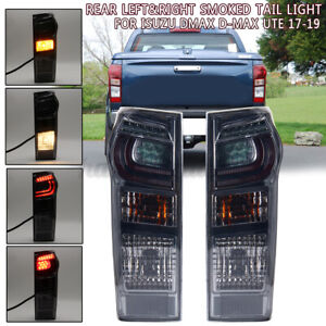 2X Rear Left&Right Smoked Tail Light Brake LED Lamp For Isuzu DMax D-Max Ute