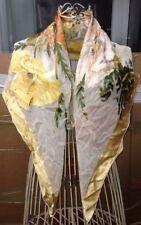 SALVATORE FERRAGAMO FLOWER PRINT SILK SCARF