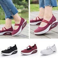 Fashion Women Casual Flat Platform Shoes Breathable Mesh Shoes Ladies Boat Shoes