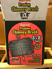 "Imperial Brand 8"" x 8"" Square Steel Wire Chimney Cleaning Brush in Box-Used once"