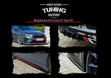 Bodykit mit Frontspoiler Heckdiffusor Schwelleraus ABS für Kia Pro Ceed GT