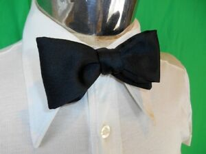 Vintage Black Polyester Adjustable Butterfly Style Bow Tie Tuxedo Prom Formal