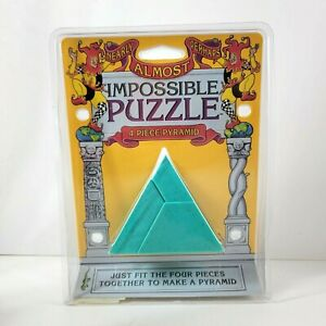 Nearly Almost Perhaps Impossible Puzzle 4 Piece Pyramid (1997, Binary Arts) RARE