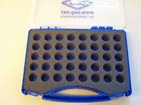 blauer Ölbrennerdüsenkoffer aus Kunststoff für 40 Düsen Düsenkoffer ohne Düsen