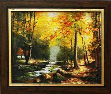 Gemälde Wald Handarbeit Ölbild Bild Ölbilder Rahmen Bilder Landschaft G02652