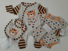 Baby boys clothes 7 piece set tiger baby grow layette 0-3 3-6 6-9 months