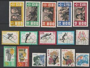 DDR 1963: schönes Lot aus Mi-Nr 988 bis 1003 gestempelt