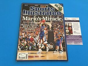Mario Chalmers Kansas Sports Illustrated Magazine Mag Signed Auto JSA COA