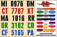 BOAT REGISTRATION DECALS - 2 minute install - VALUE PRICED - Quick Free Shpn