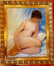 ITALO BOTTI AKA GEORGE BARREL NUDE  OIL NY - CHICAGO LISTED ARTIST C 1940-50
