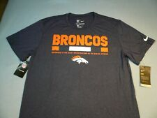 Nike Denver Broncos Legend Staff Large Shirt Athletic Cut Dri Fit NFL