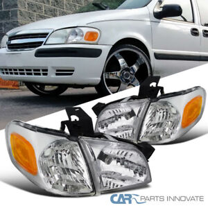 97-05 Venture Silhouette 99-05 Montana Clear Headlights Corner Lamps Left+Right
