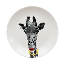 Mustard Ceramic Wild Dining Gina Giraffe Dinner Plate