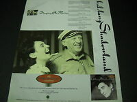 k.d. LANG yuks it up with OWEN BRADLEY 1988 Promo Poster Ad mint condition