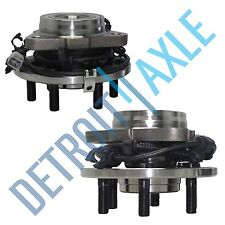Set of 2 Front Driver and Passenger Wheel Hub and Bearing 4WD 4x4 6 Bolt w/ ABS