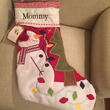 NWT Pottery Barn Kids Snowman Quilted Christmas Stocking *Monogram Mommy*