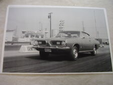 1968 PLYMOUTH BARRACUDA ON DRAG STRIP  11 X 17  PHOTO  PICTURE