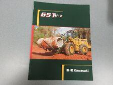 Kawasaki 65Tm-2 Wheel Loader Literature 12 Pages