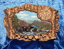 Hershey Molds~Vintage 1985~Black Bear Family Scene~Black Hills Of N. Dakota