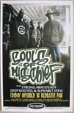 Souls Of Mischief Gig Poster Oct. 2009 Portland Oregon Concert