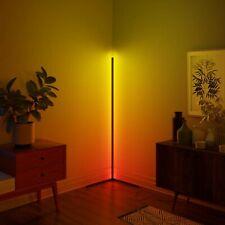 Minimal LED Corner Floor Lamp - 16m RGB Colours - WHITE Body - UK Stock