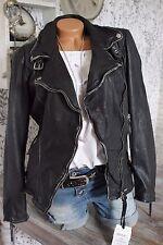 ♥ PATAGO Flex Nappa Echt Leder Biker Jacke Lederjacke Vintage M L Xl XXL 3XL