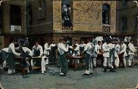 Feldpostkarte Militär 1915 Soldaten Leben Wäsche machen Feldpost n/ Königsbrück