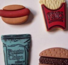 Set of 4 Snack Handmade Decorative Push Pins/Thumbtacks