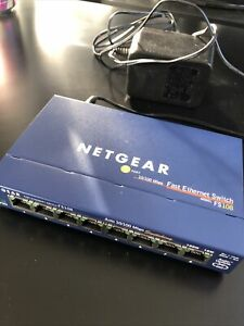 Netgear FS108 8 Port 10/100 Mbps Network Switch