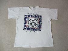 VINTAGE Lotto Shirt Adult Large White Purple Soccer Futbol Football Mens 90s *