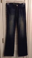 """PLASTIC BY GLY ** Denim Blue Jeans Size 24 - Tall 33"""" Inseam"""