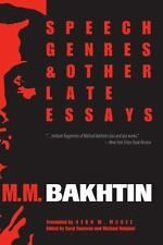 Speech Genres and Other Late Essays (University of Texas Press Slavic Series), B