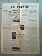 Fac similé Journal - LE FIGARO 24 AOÛT 1939