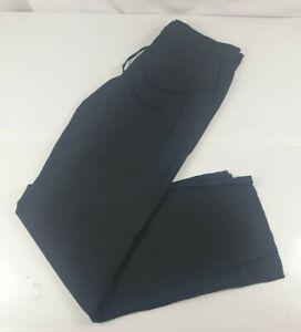 Next Linen Blend Parallel Black Trousers Women's UK Size 6 Regular - New w/ Tags