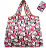 Snoopy Foldable Shopping Nylon Bag ~ Comic Strip pink