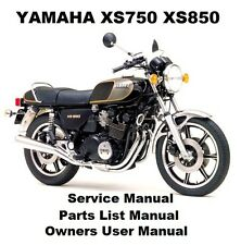 YAMAHA XS750 XS850 Owners Workshop Service Repair Parts List Manual PDF on CD-R