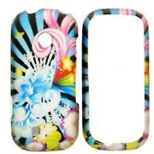 For LG Cosmos Touch VN270 Protector Hard Case Snap on Phone Cover Flower Blast