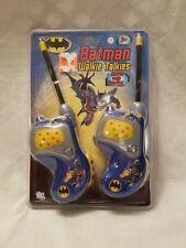 BATMAN DC WALKIE TALKIES TWO WAY RADIO & MORSE CODE PUSH TO TALK