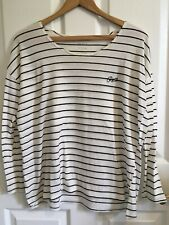 RVCA Black and Off White Stripped Long Sleeve Shirt Women's S