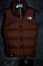 ++ The North Face Vest Womens 700 Down Fill Brown Nuptse Puffer Vest SMALL EUC +