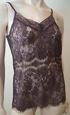 DAY BIRGER et MIKKELSEN Brown Lace V Neck Strappy Cami Vest Top Sz:S BNWT