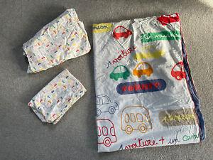 Vertbaudet Boys Auto City Car Single Bedding Duvet Pillowcase & Fitted Sheet Set