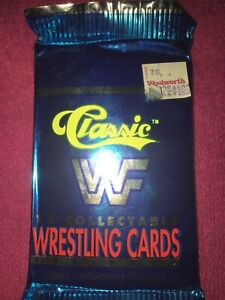 1990 WWF TRADING CARDS CLASSIC SERIES 1 UNOPNED PACK! HULK HOGAN SHAWN MICHAELS!