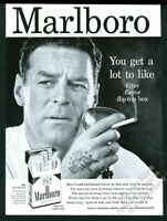1957 Marlboro Man announcer photo Marlboro cigarettes vintage print ad