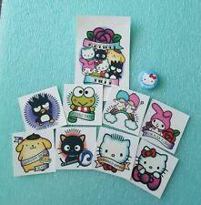 Hello Kitty's Supercute Friendship Festival COMPLETE tattoo set & blue HK badge