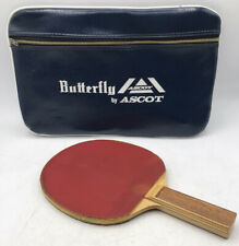 Vintage Butterfly Wakaba D-13 Table Tennis Bat By Tamasu Tokyo And Ascot Case