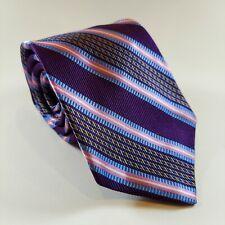 USA Robert Talbott 3 3//4 x 58 Black Stripe Wool Tie