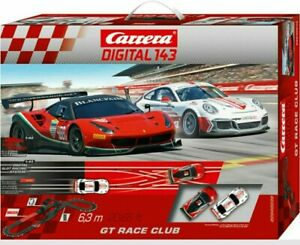 Carrera DIGITAL 143 GT Race Club 20040039 Auto Rennbahn Porsche Ferrari Bahnen